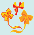 image of a beautiful festive ribbons vector image