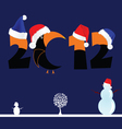 2012 with tree and snowman vector image