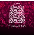 Christmas sae card with shopping bag EPS 8 vector image