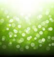 Green Bokeh vector image