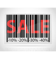barcode sale vector image vector image
