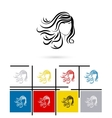 Beautiful female face icon vector image