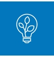 Lightbulb and plant inside line icon vector image