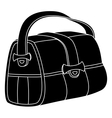 Leather bag silhouette vector image vector image