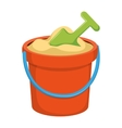 Bucket kids toy vector image