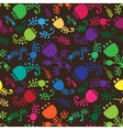 colorful floral cartoon seamless background vector image
