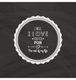 Cute Love Label vector image