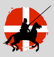 england knight warrior silhouette on white vector image