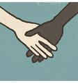 handshake vintage vector image