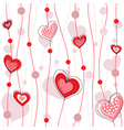 heart decorative design vector image