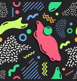 modern simple seamless pattern with bright colored vector image