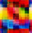 Rainbow blurred pixels seamless pattern vector image