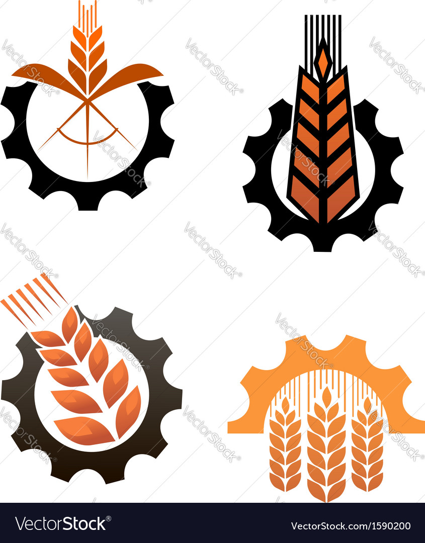 Agriculture icons and smbols vector
