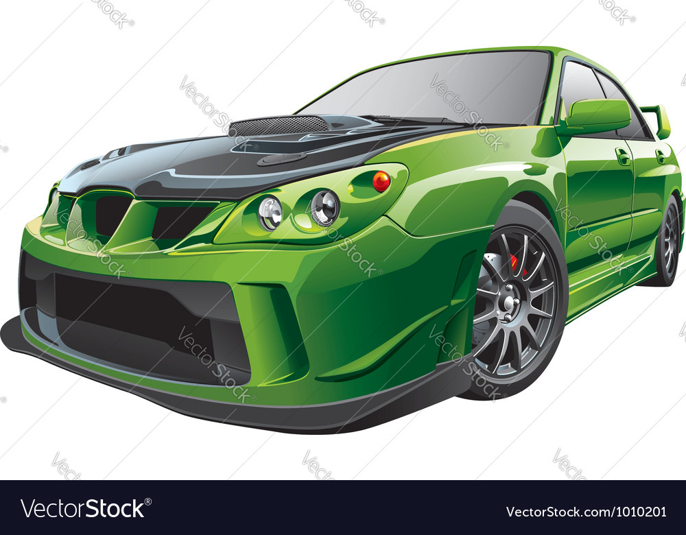 Green custom car vector
