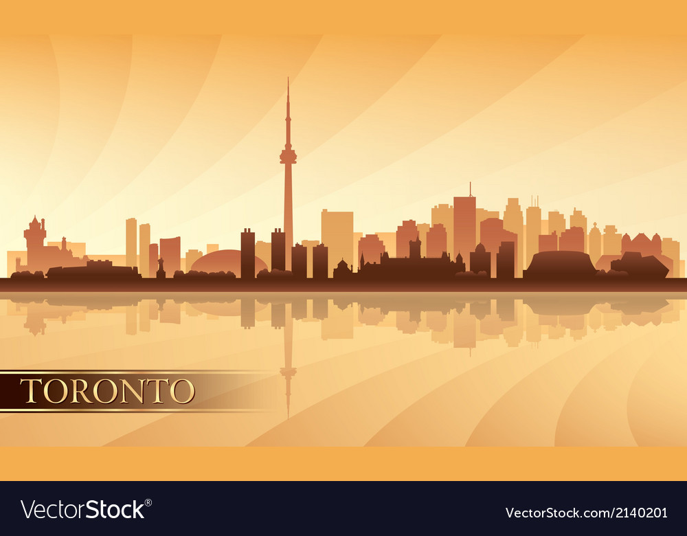 Toronto city skyline silhouette background vector