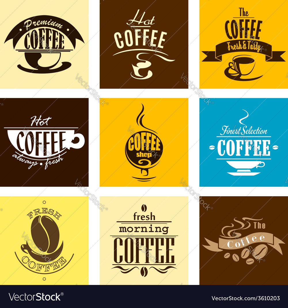 Hot fresh morning coffee banners vector