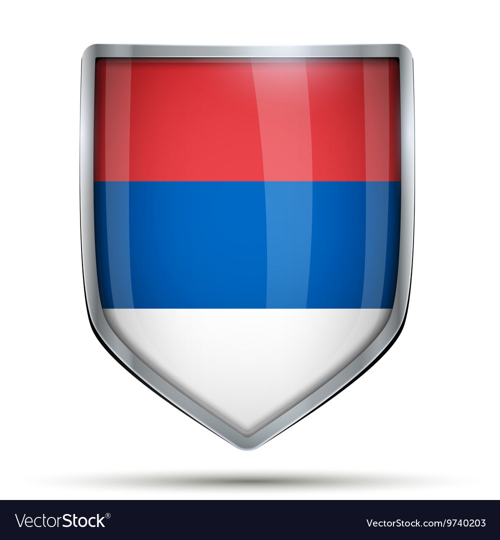 Shield with flag russia vector