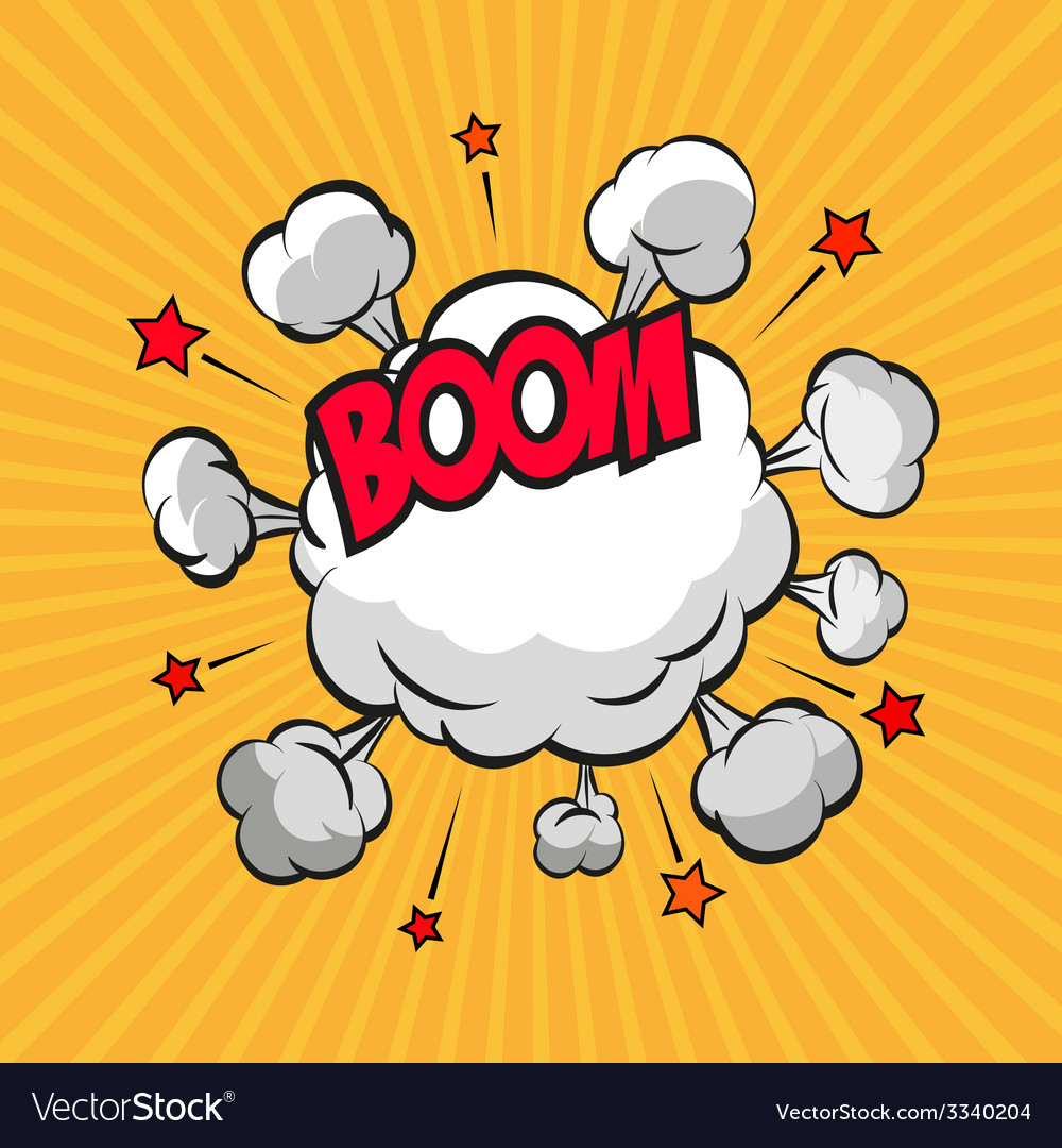 Clouds boom backgrounds vector