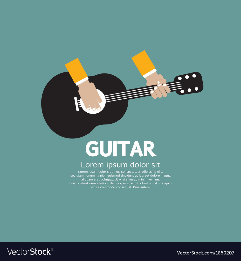 Guitar playing vector