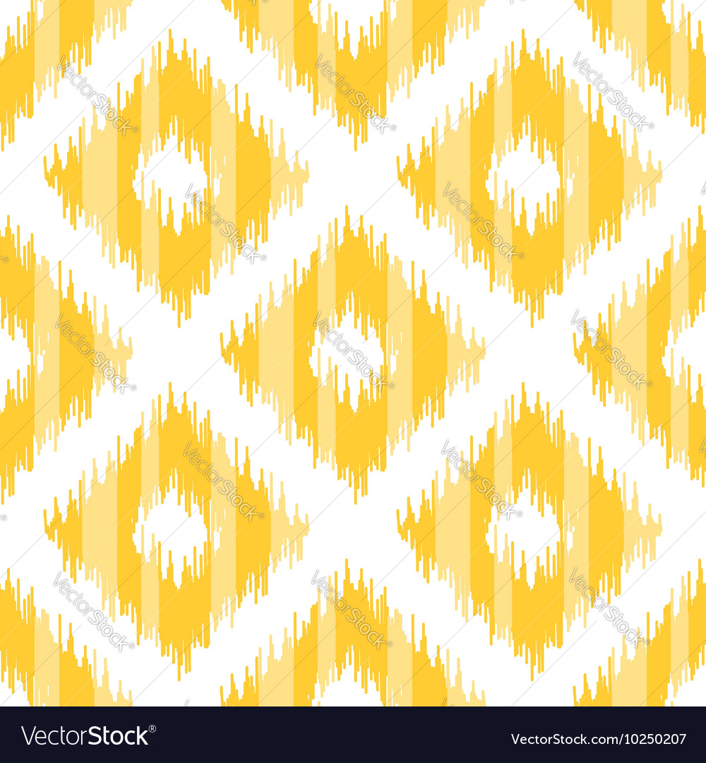 Seamless geometric pattern ikat fabric style vector