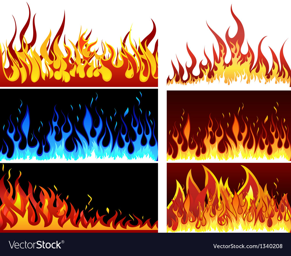 Fire set vector