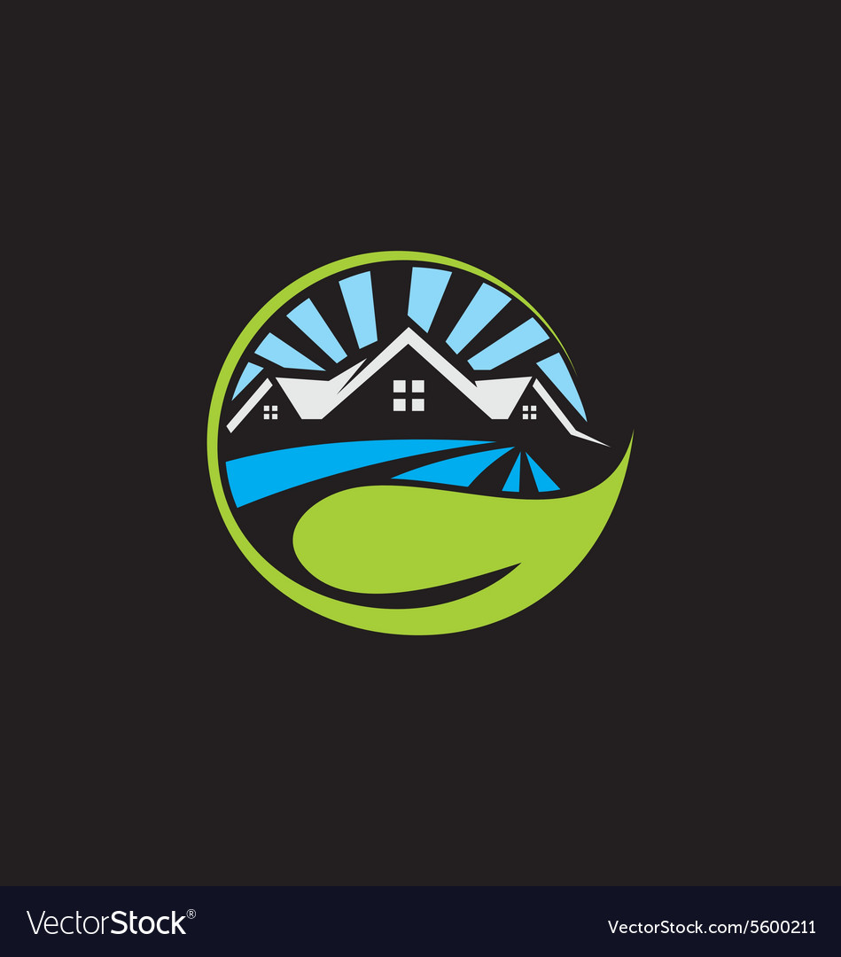 Ecology house environment logo vector