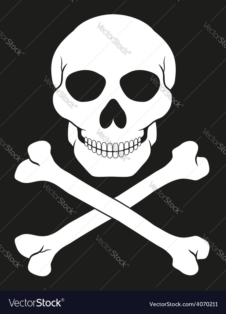 Pirate skull and crossbones 02 vector
