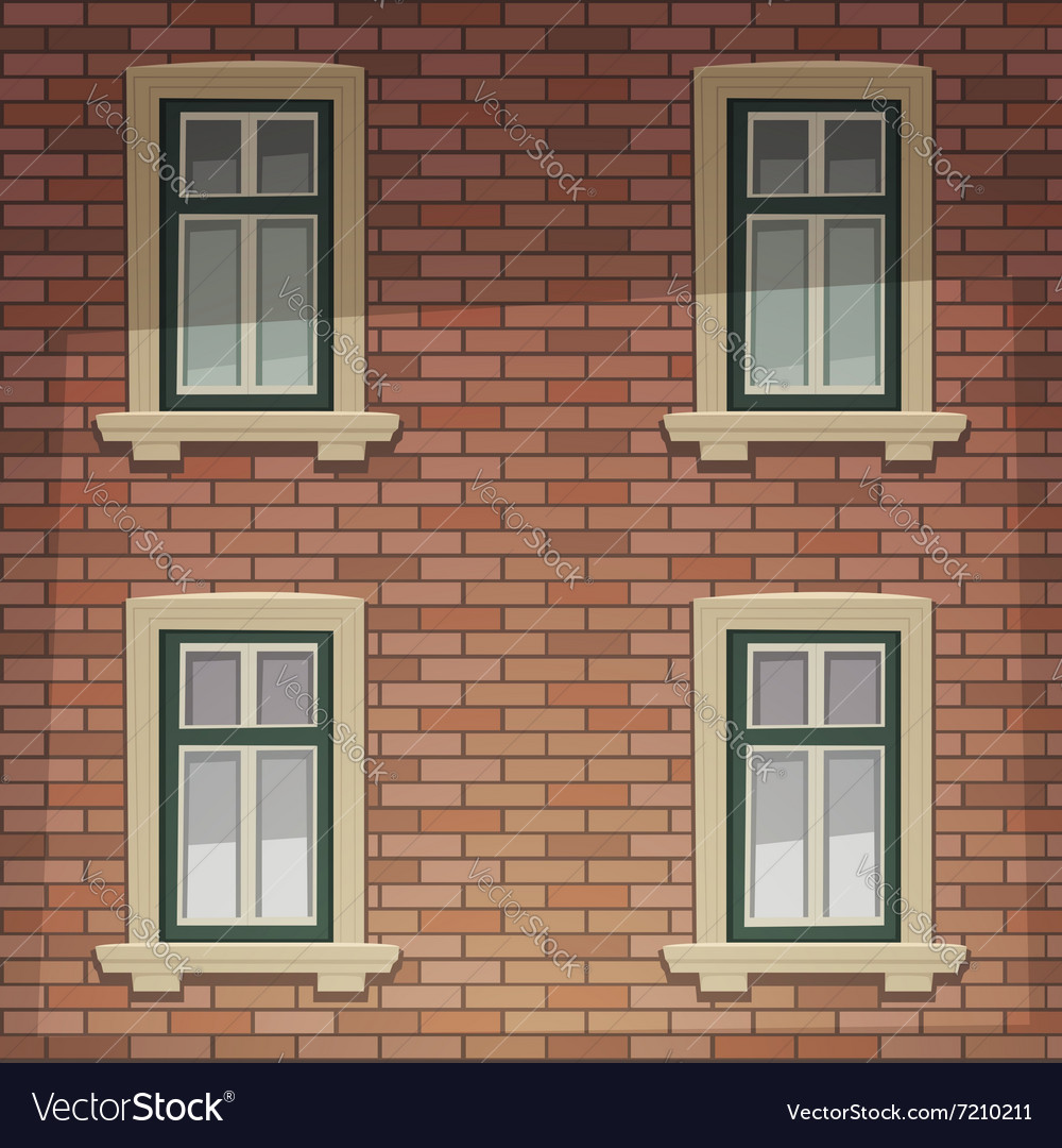 Retro building facade vector