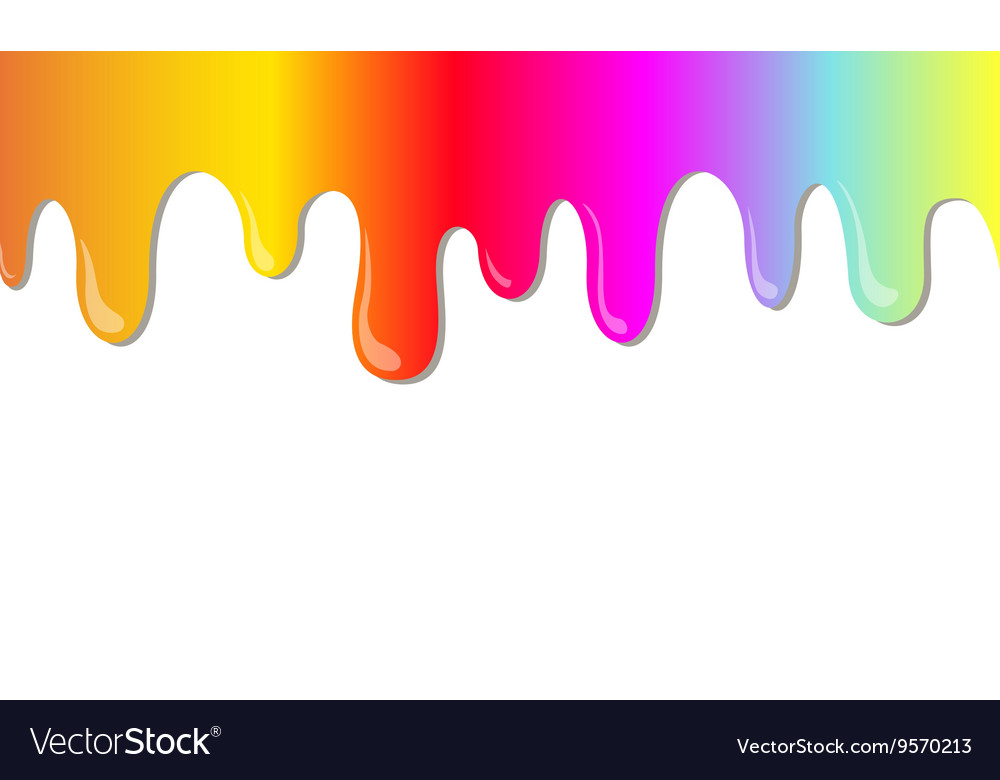 Rainbow stains vector