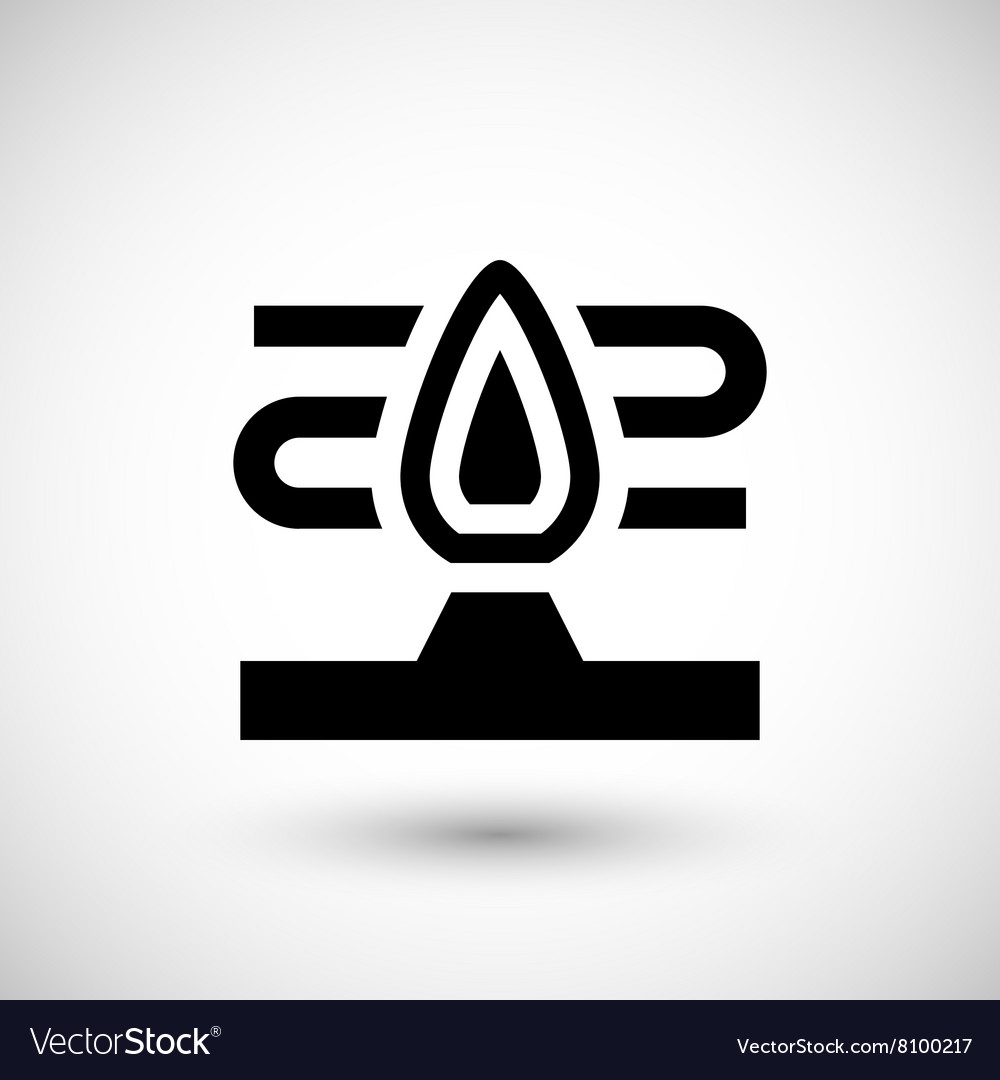 Heater flame icon vector