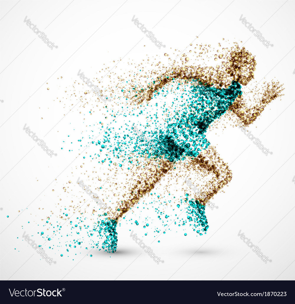 Running man vector