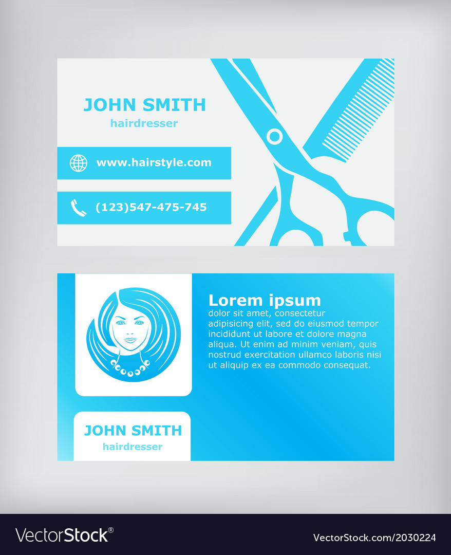 Business card hairdresser vector