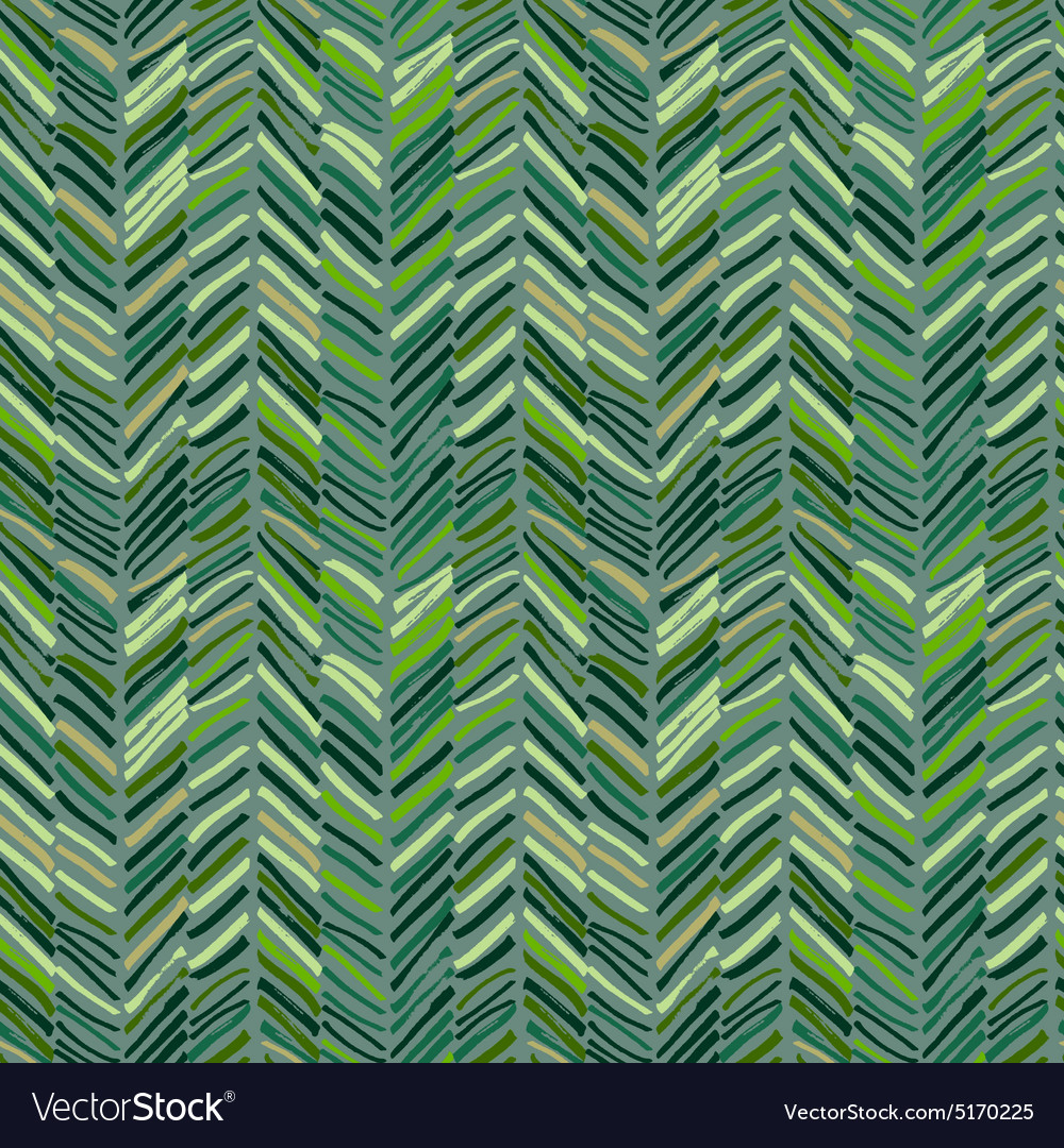 Scribble seamless pattern green vector