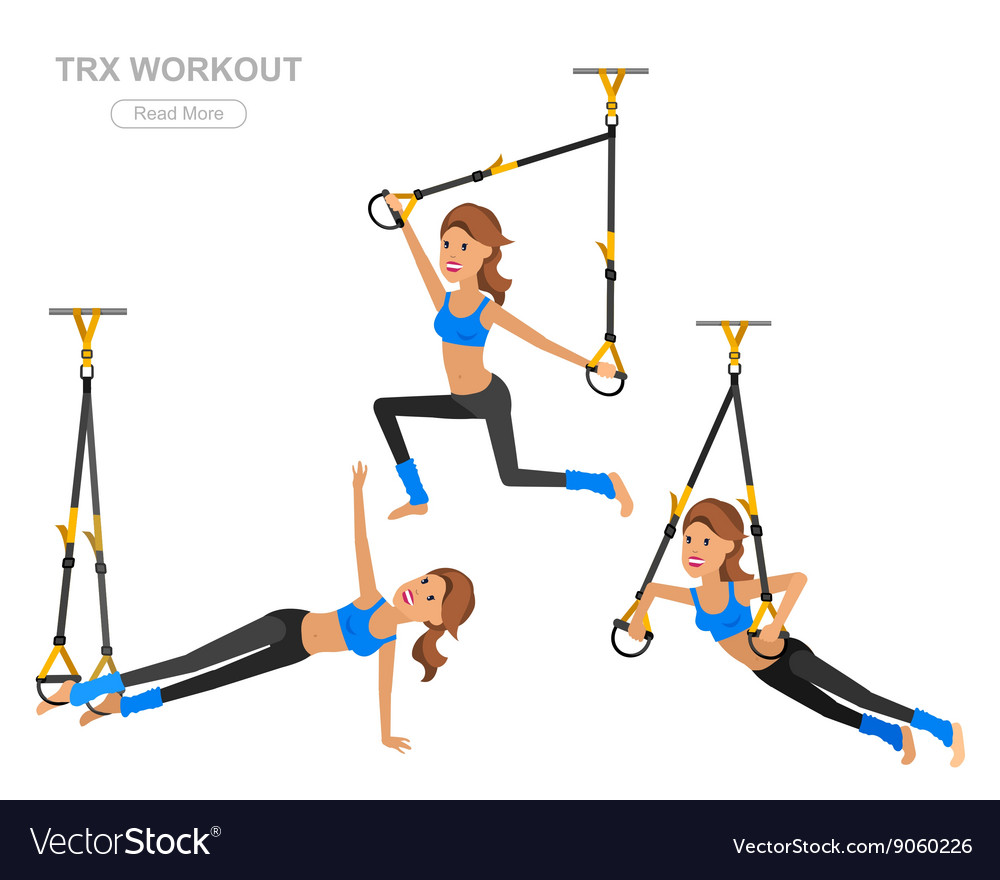 Fit woman stretching her leg to warm up  isolated vector