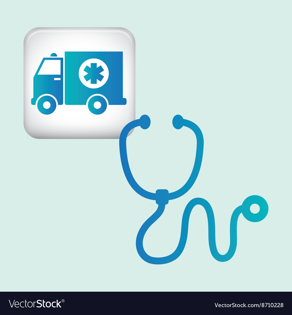 Medical care design health care icon urgency vector