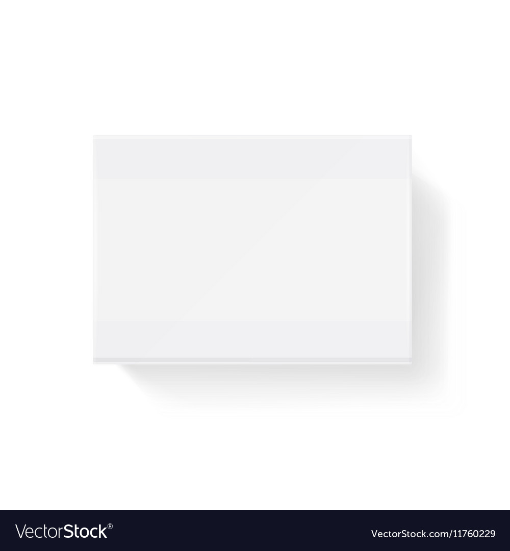White blank closed matchbook match box vector