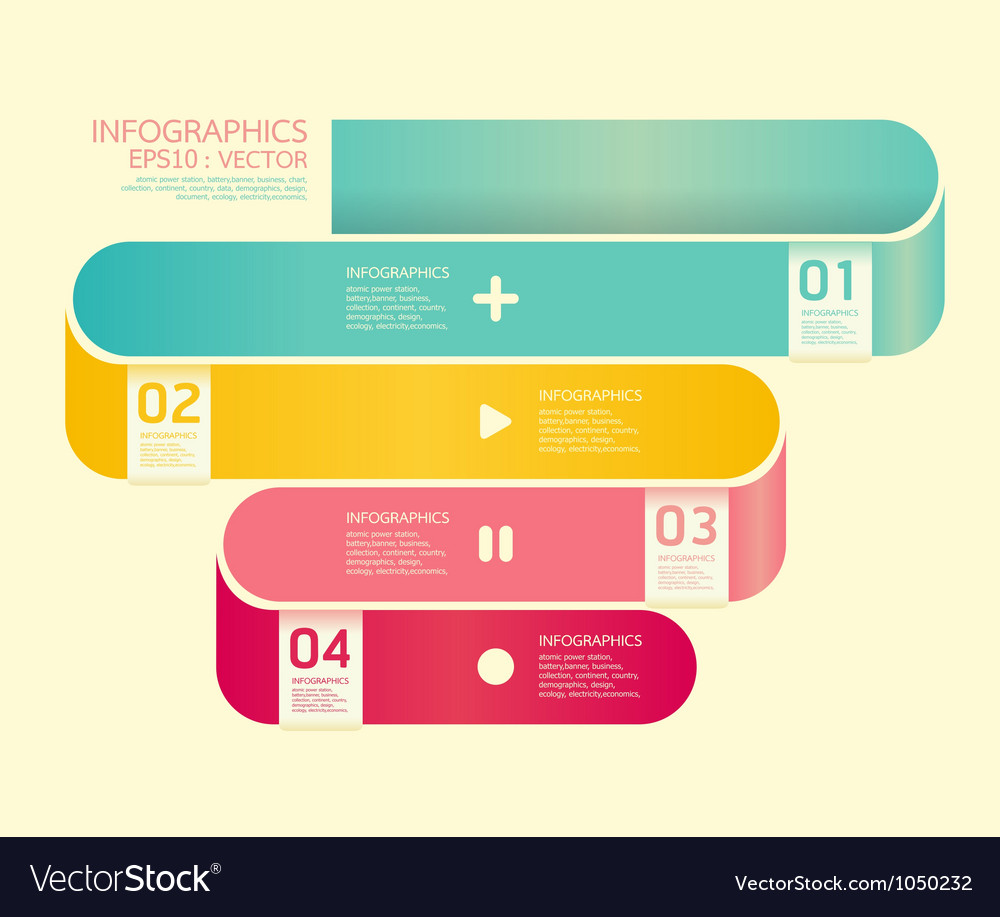 Modern curve soft color design template vector