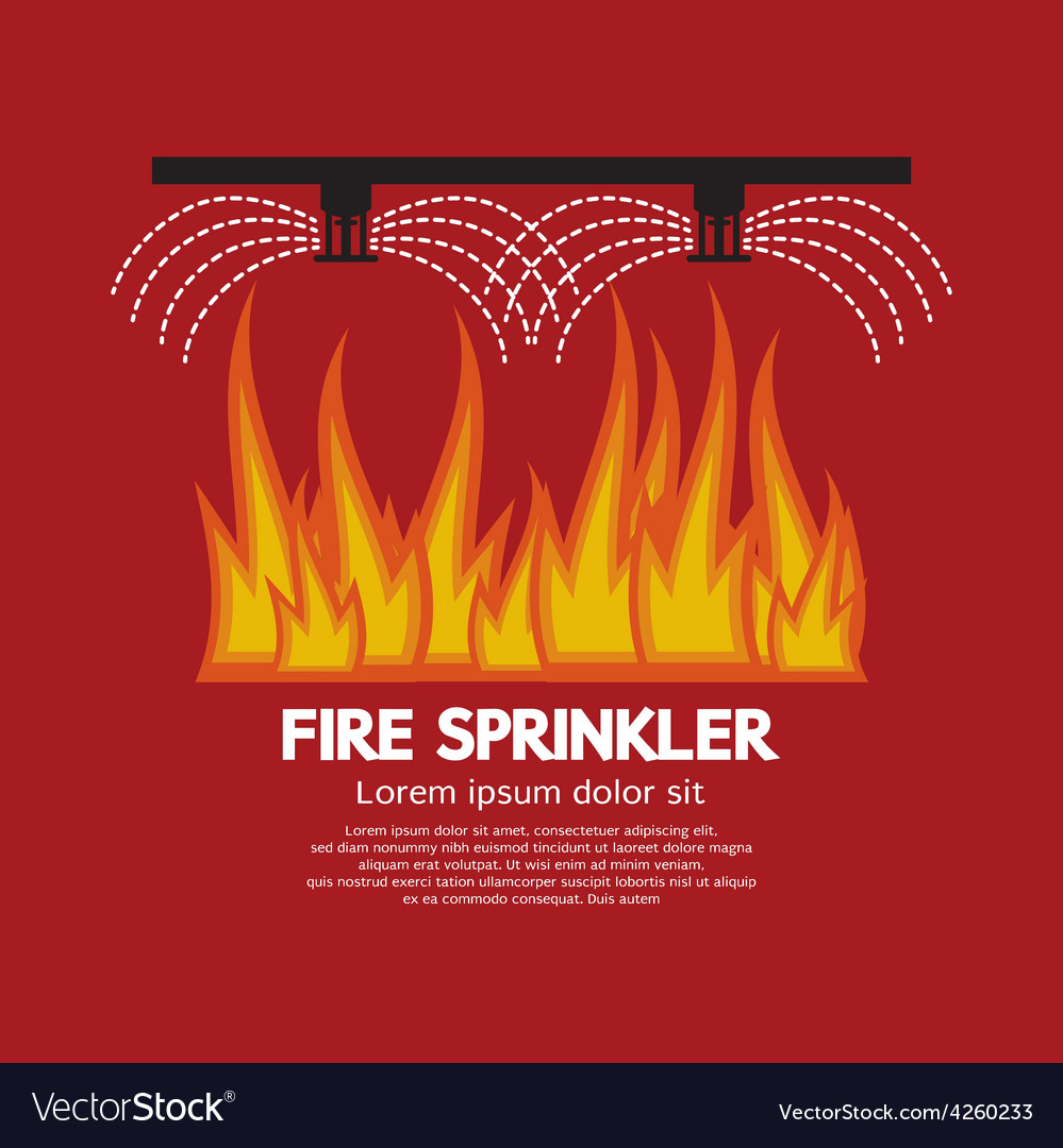 Fire sprinkler life safety vector