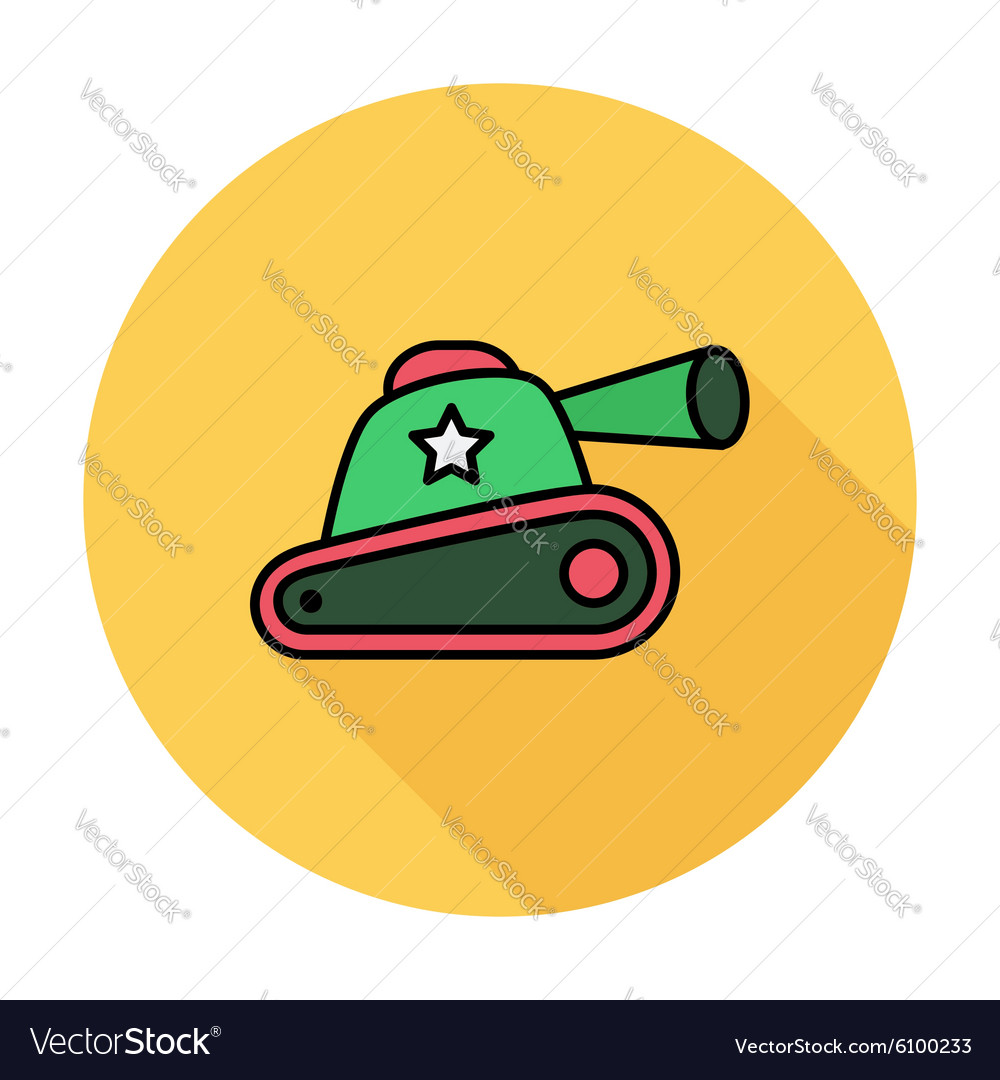 Tank toy vector
