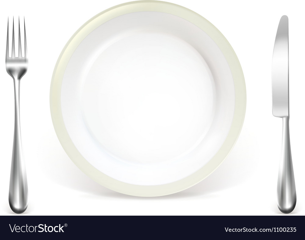 Dinner place setting vector