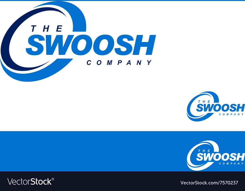 Swoosh abstract symbol branding element template vector
