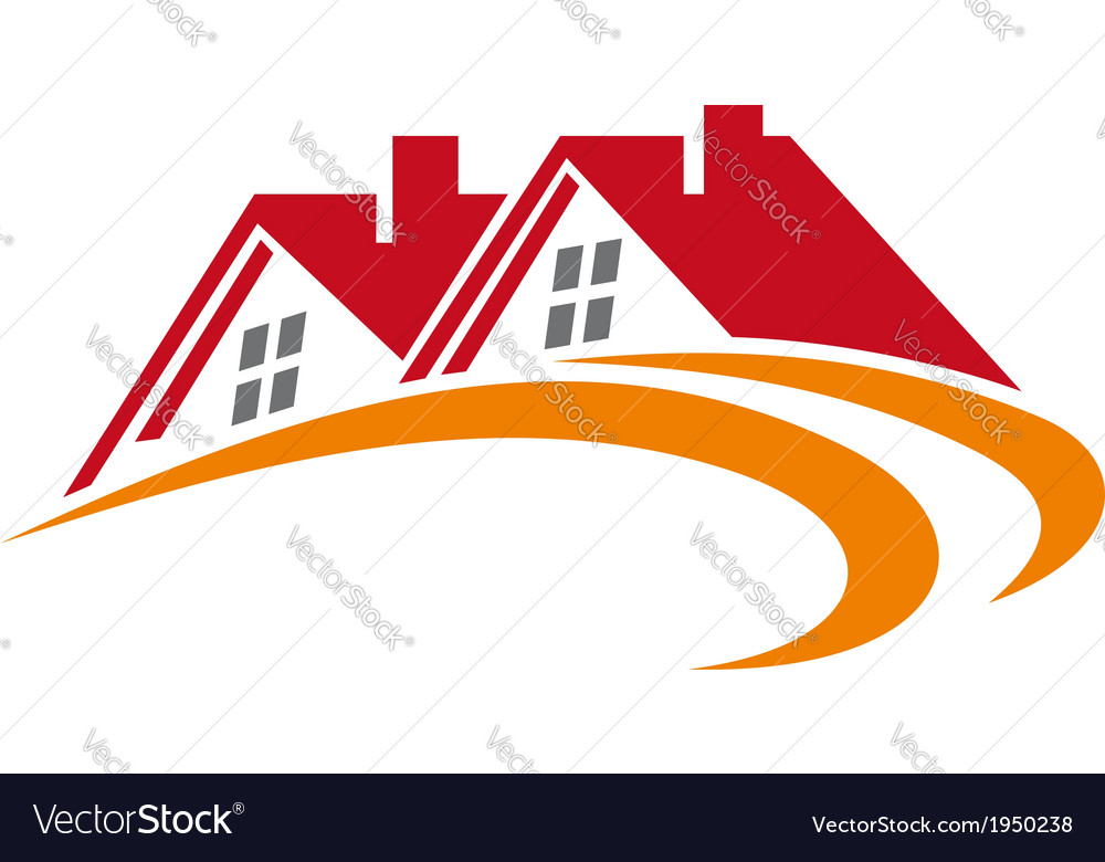 Elements of house roofs vector