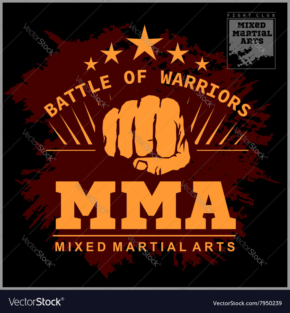 Boxing and martial arts logo badge or label in vector