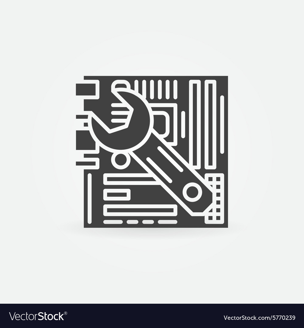 Computer repair logo vector