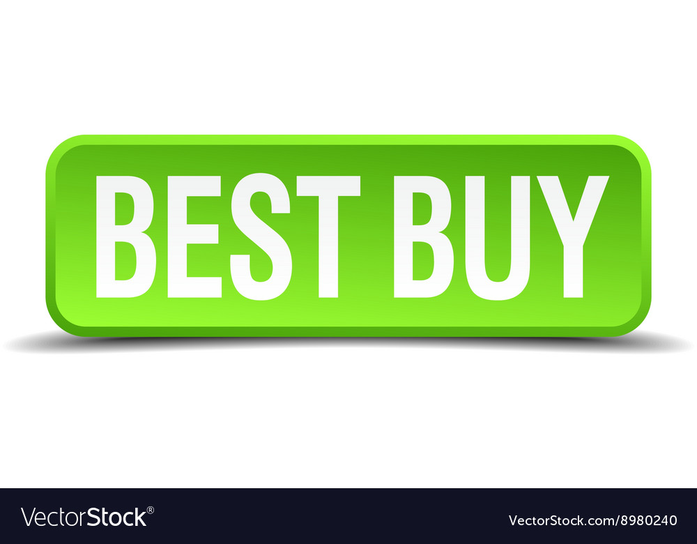 Best buy green 3d realistic square isolated button vector