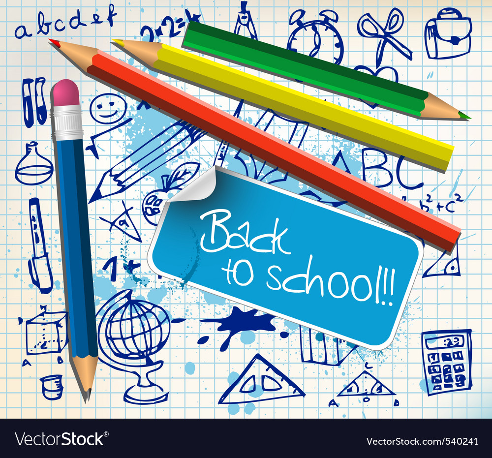 Back to school vector