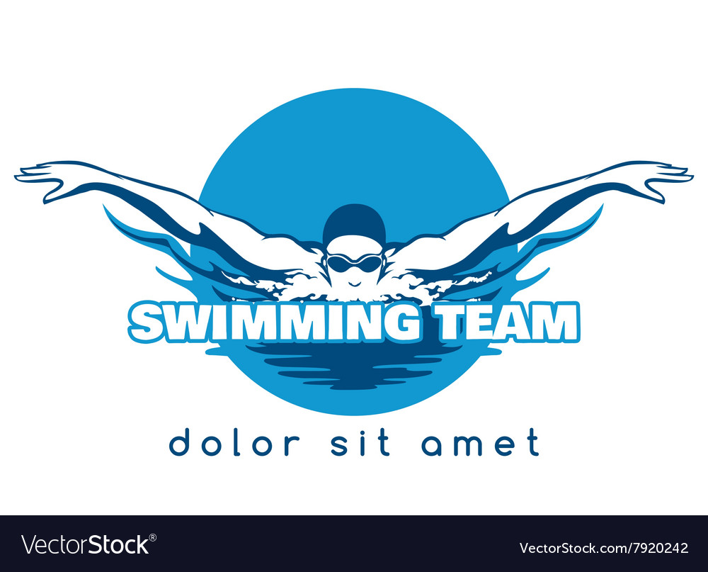 Swimming team logo vector
