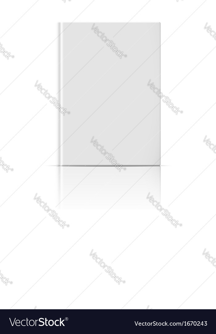 Blank vertical book template vector