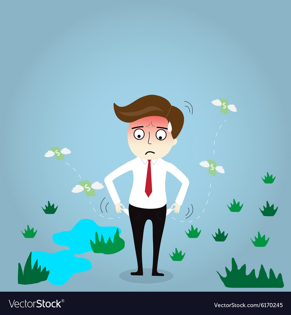 Businessman has no money vector