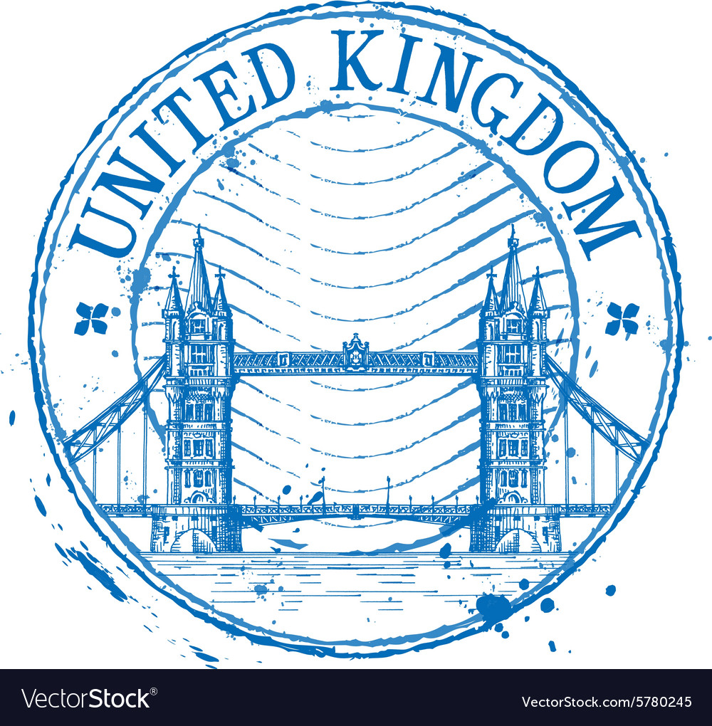 United kingdom logo design template shabby vector